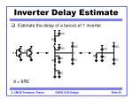 inverter delay estimate40