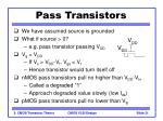 pass transistors31