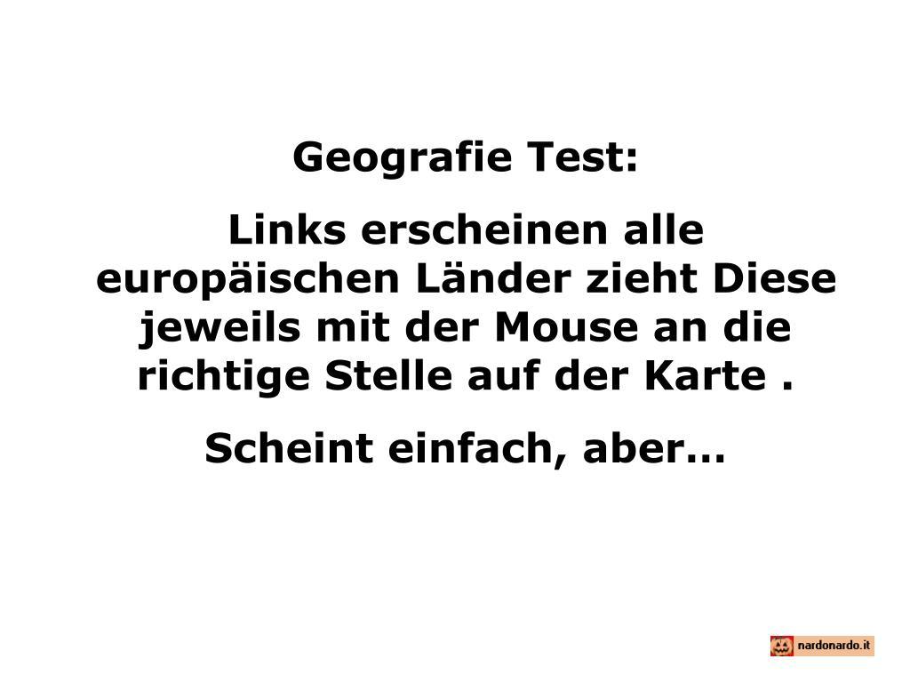 Geografie Test: