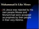 muhammad is like moses