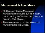 muhammad is like moses10