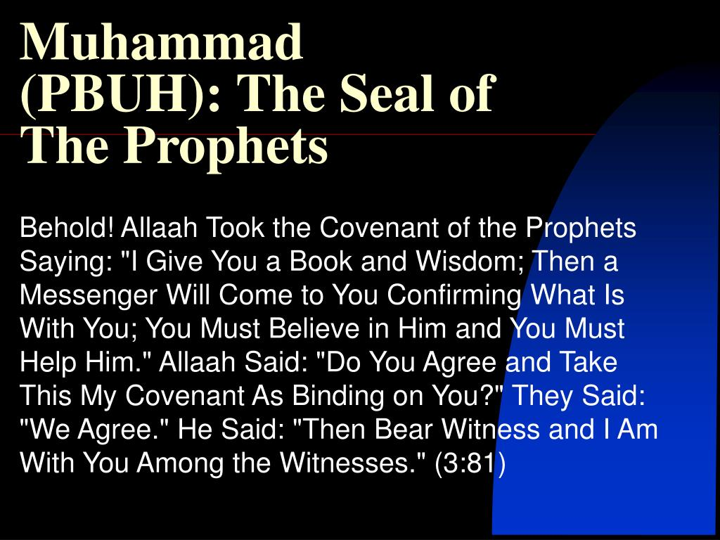 muhammad pbuh the seal of the prophets l.
