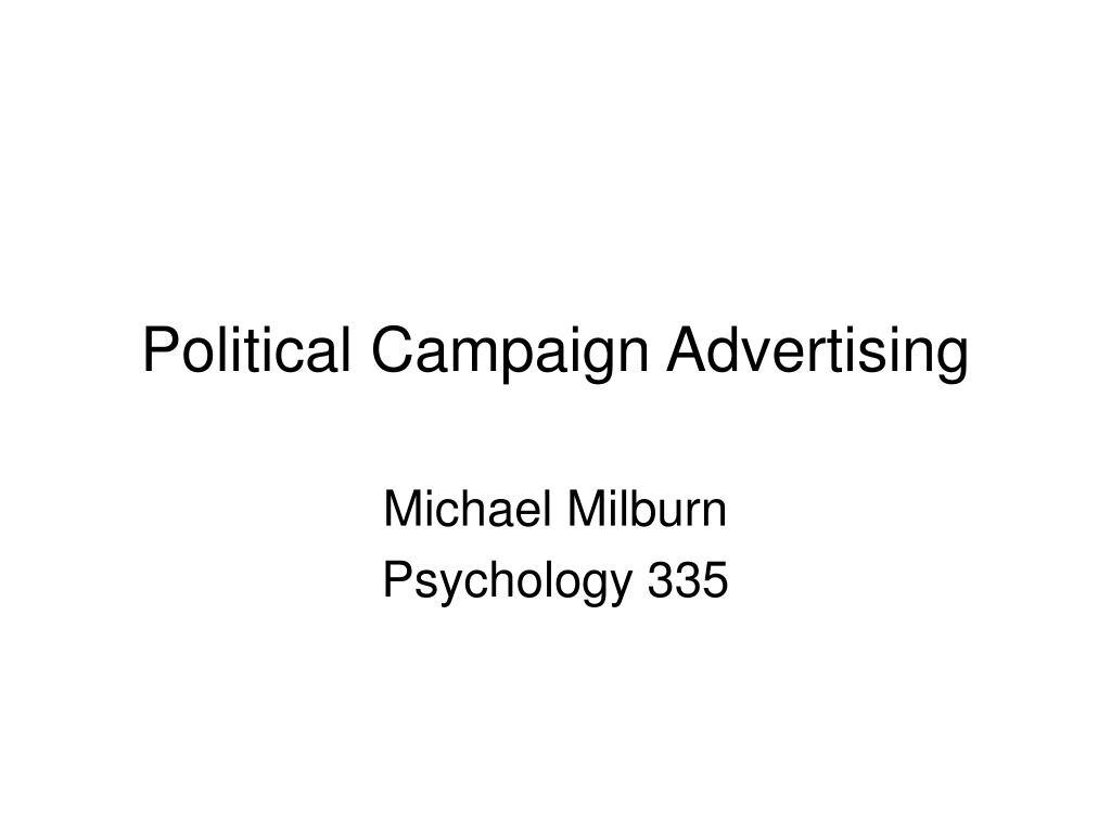 political campaign advertising l.