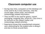 classroom computer use