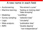 a new name in each field