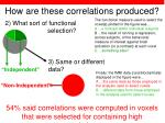 how are these correlations produced21