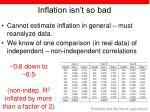 inflation isn t so bad