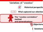 varieties of voodoo19