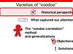 varieties of voodoo4