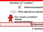 varieties of voodoo40