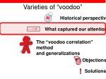 varieties of voodoo8