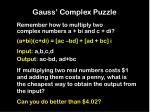 gauss complex puzzle