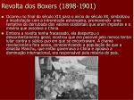 revolta dos boxers 1898 1901