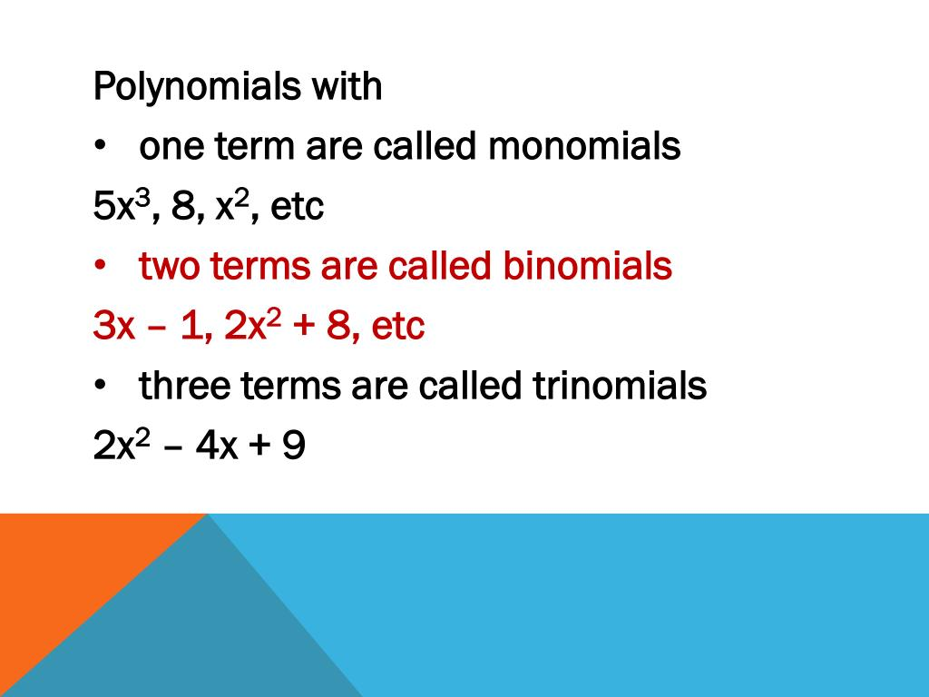 Polynomials with