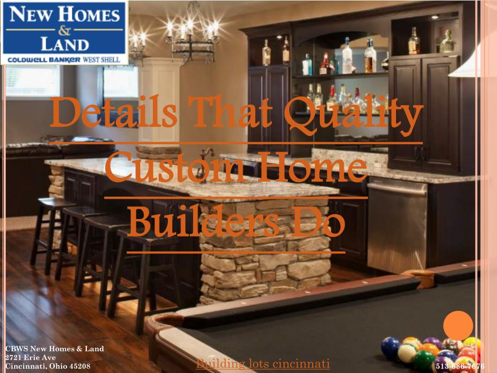 Details That Quality Custom Home Builders Do