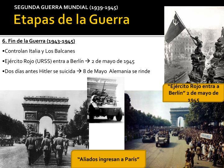 SEGUNDA GUERRA MUNDIAL (1939-1945)