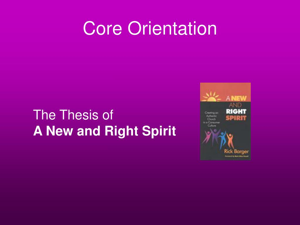 Core Orientation