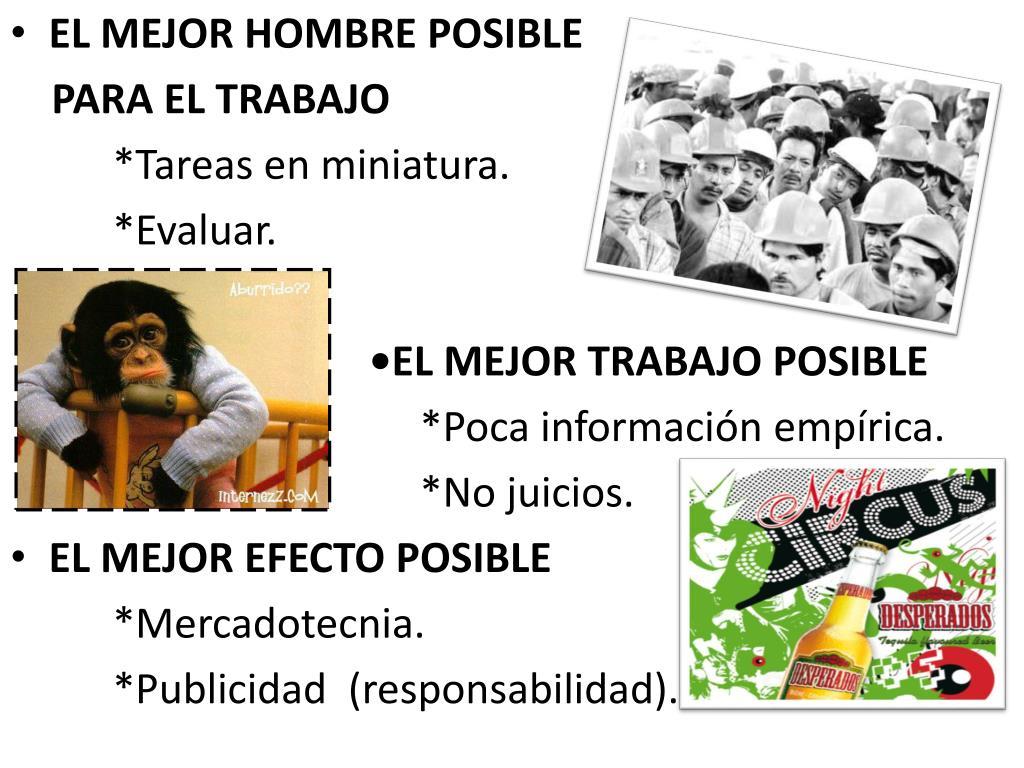 EL MEJOR HOMBRE POSIBLE