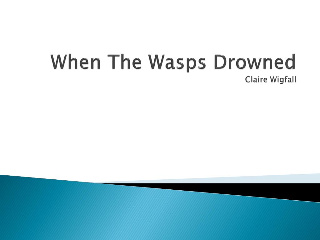when the wasps drowned claire wigfall l.