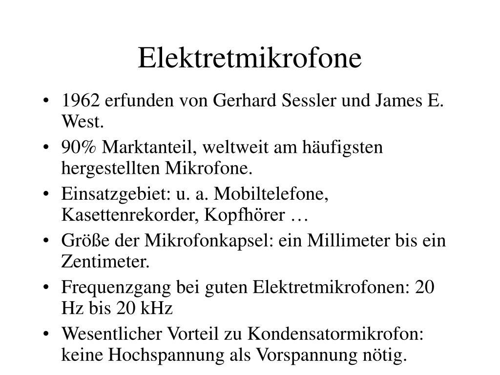 Elektretmikrofone