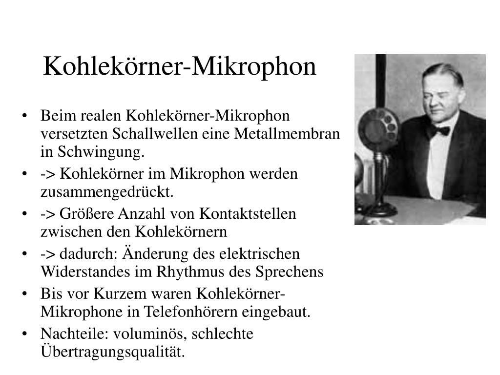 Kohlekörner-Mikrophon