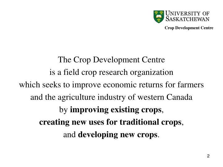 Crop Development Centre