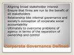 corporate governance defined