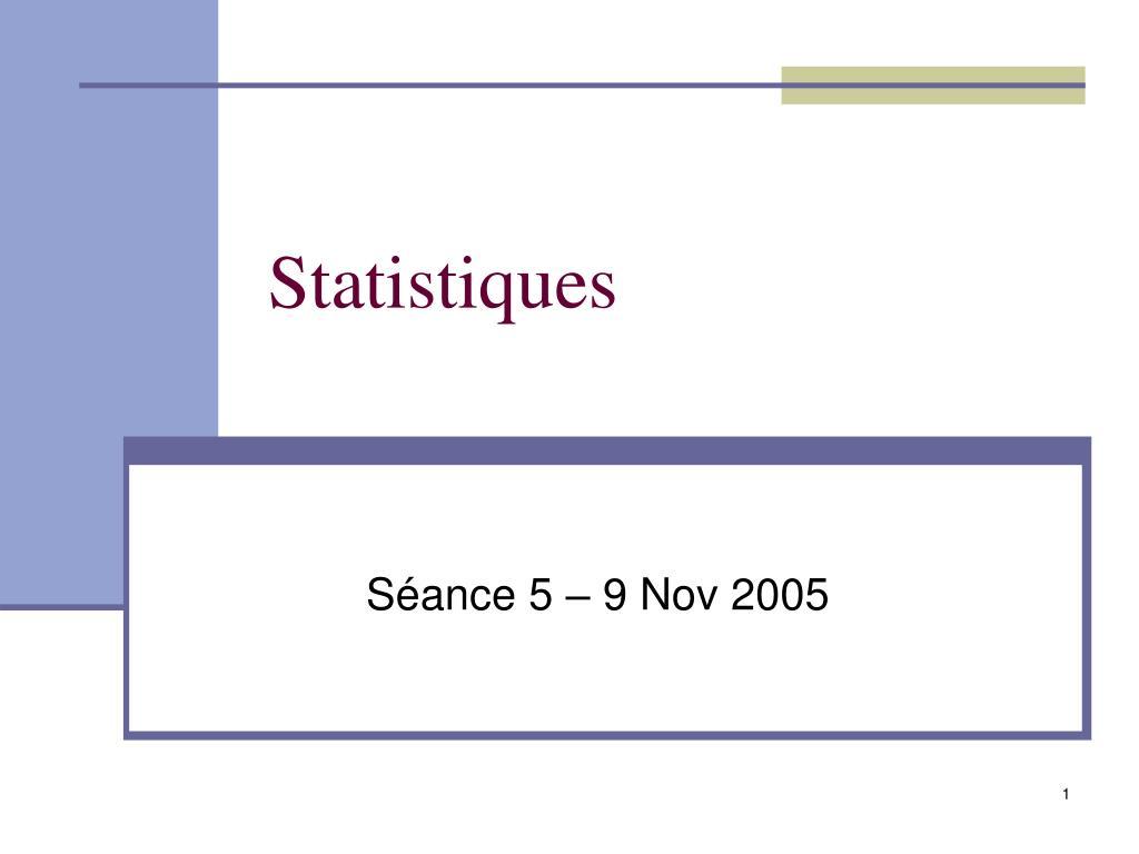statistiques l.