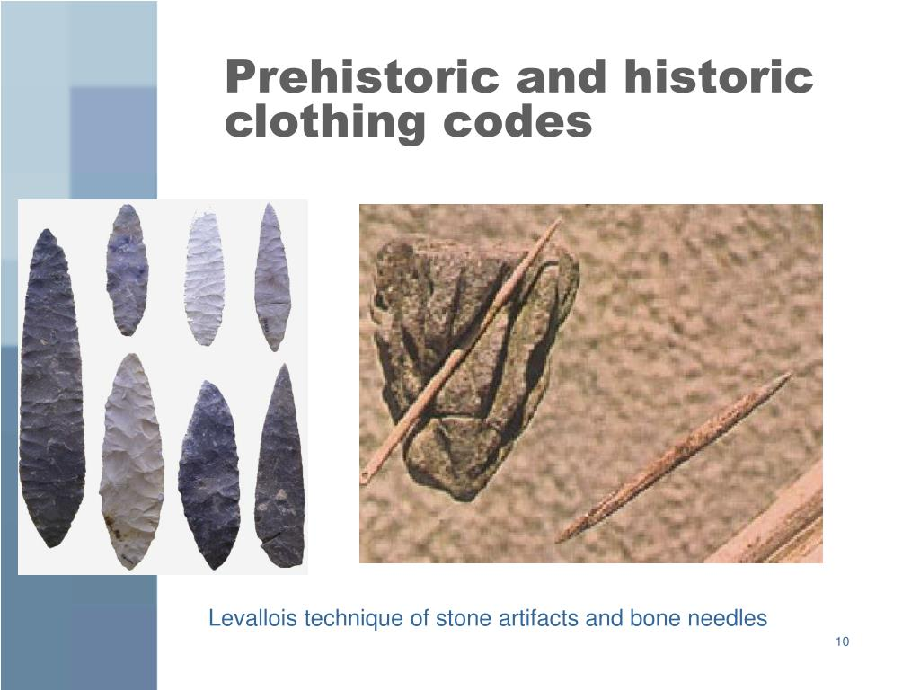 Prehistoric and historic clothing codes