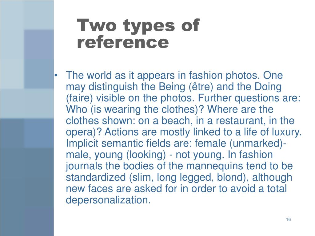 Two types of reference