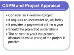 capm and project appraisal