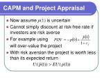 capm and project appraisal25