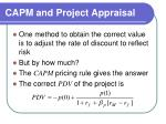 capm and project appraisal26