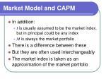 market model and capm19