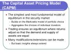 the capital asset pricing model capm3