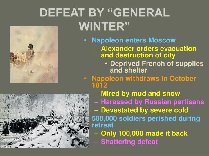 """DEFEAT BY """"GENERAL WINTER"""""""