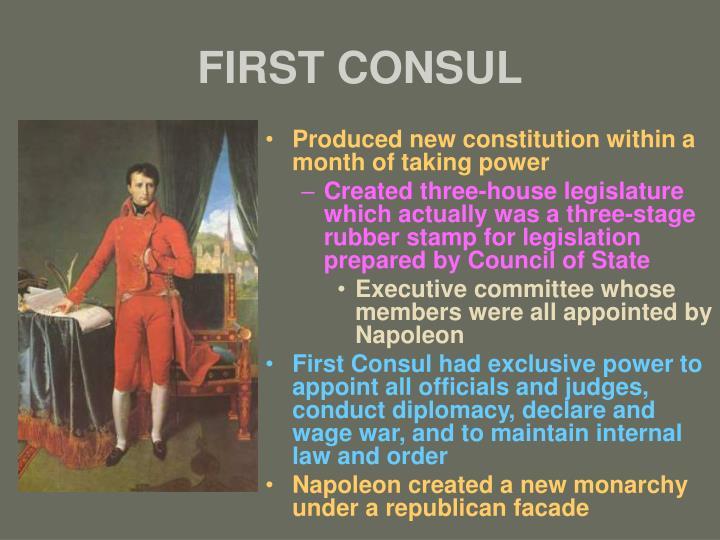 First consul