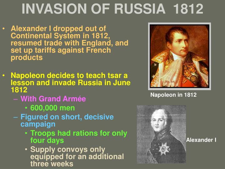 INVASION OF RUSSIA  1812