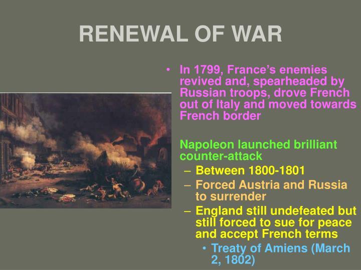 RENEWAL OF WAR