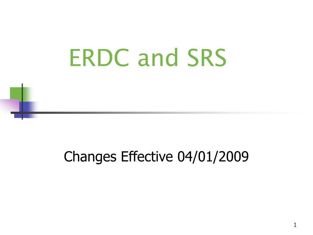 erdc and srs l.
