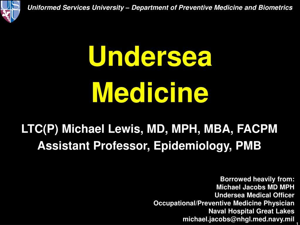 Undersea Medicine