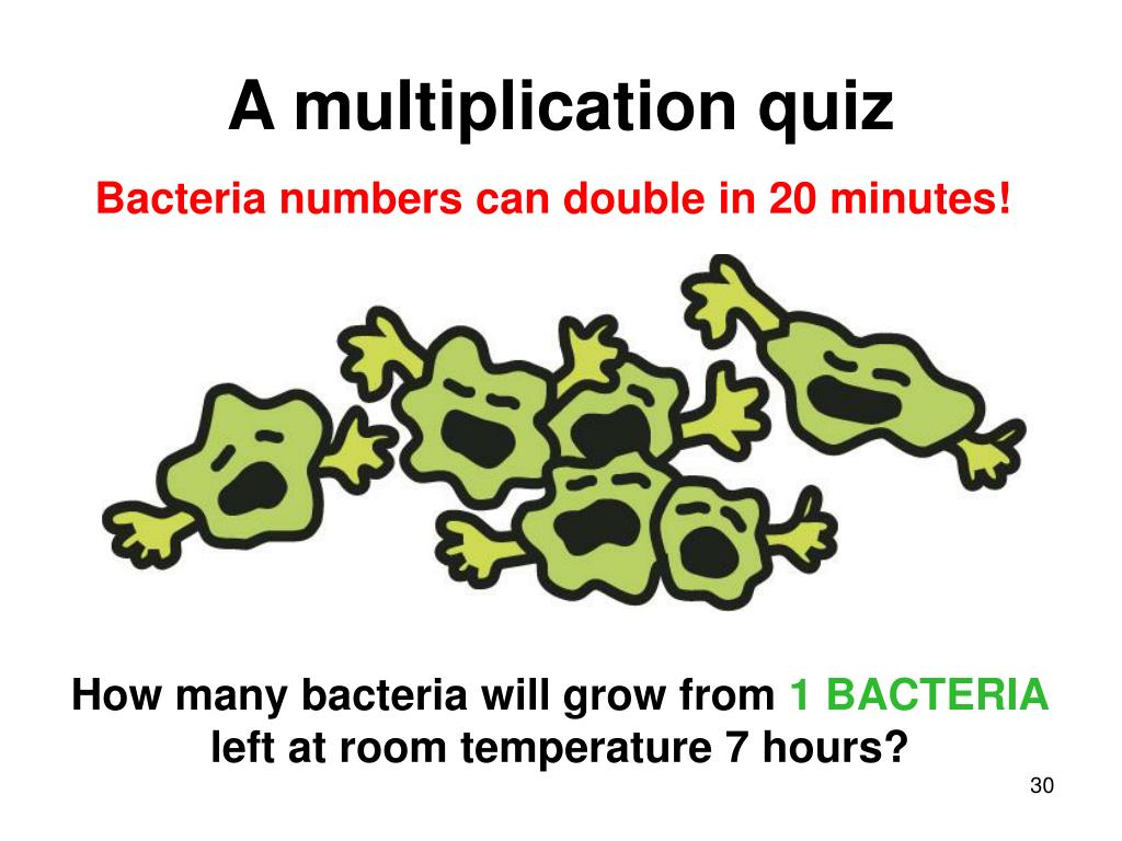 A multiplication quiz