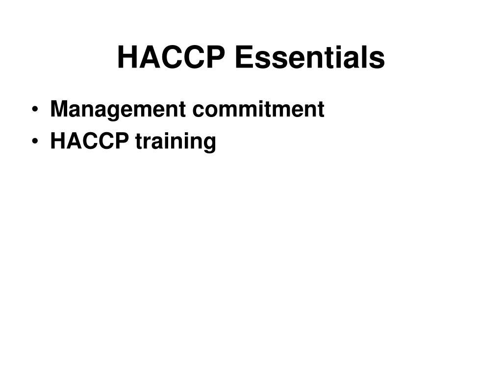 HACCP Essentials