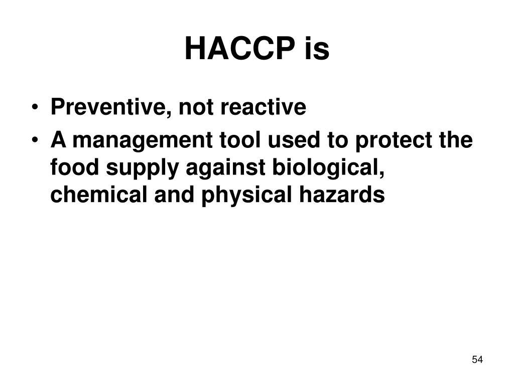 HACCP is