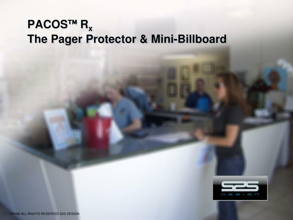 pacos r x the pager protector mini billboard l.