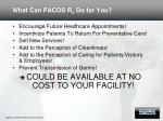 what can pacos r x do for you15