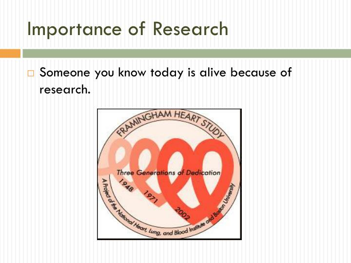 Importance of research