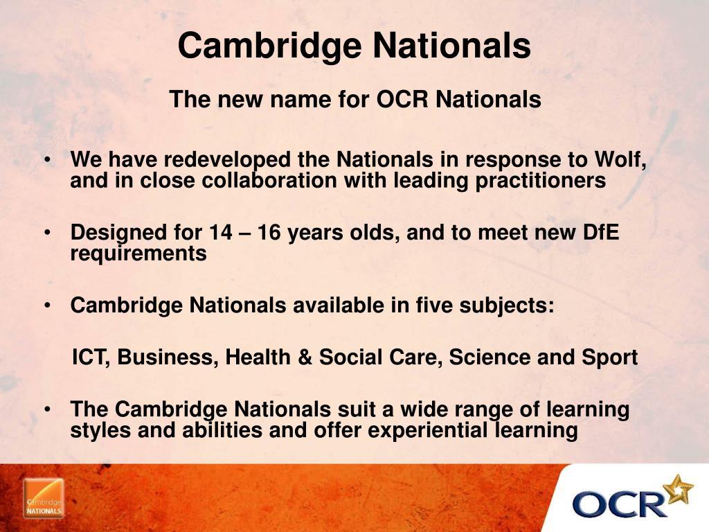 Cambridge Nationals