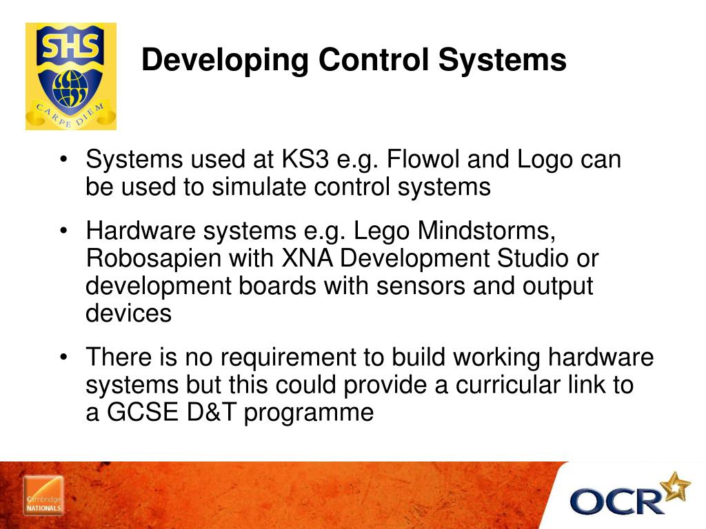 Developing Control Systems