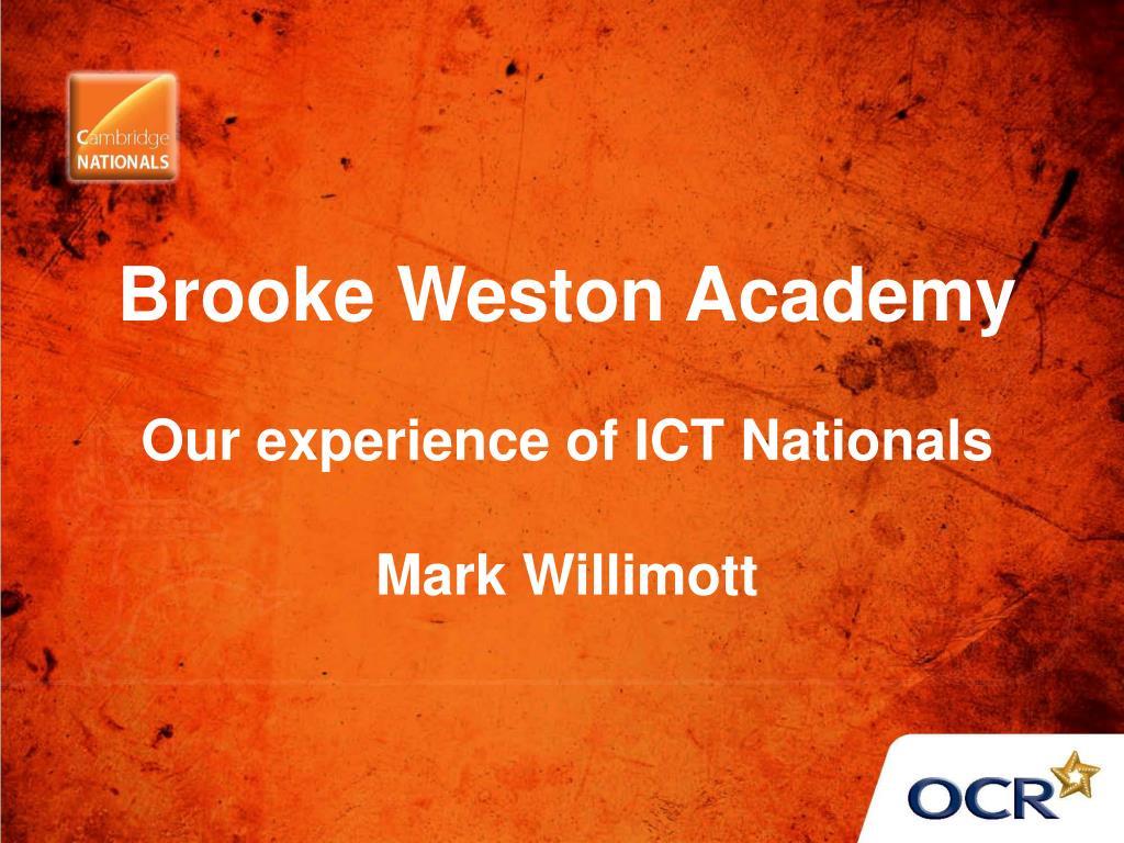 Brooke Weston Academy